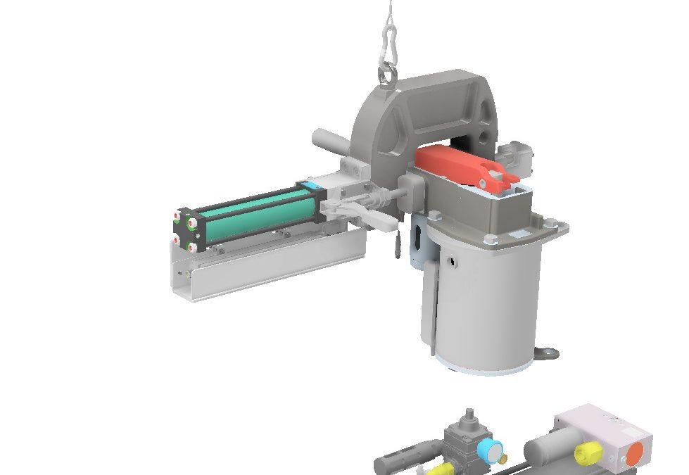 Hydro pneumatic manual press.