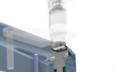 Manual spindle press.